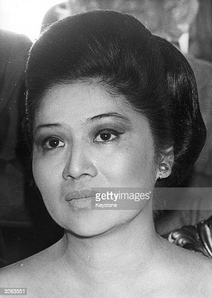 Imelda Marcos, the wife of the Phillipine politician Ferdinand Marcos, overthrown in 1986.