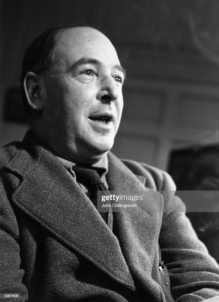 British writer C S Lewis (Clive Staples Lewis, 1898 - 1963), a Fellow and Tutor of Magdalen College, Oxford. Original Publication: Picture Post - 5159 - Eternal Oxford - pub. 1950