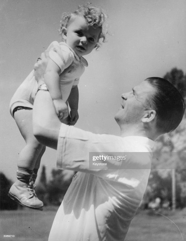 Left-footed inside left and captain of the Hungarian football team Ferenc Puskas in England with his daughter Aniko to play England at Wembley.