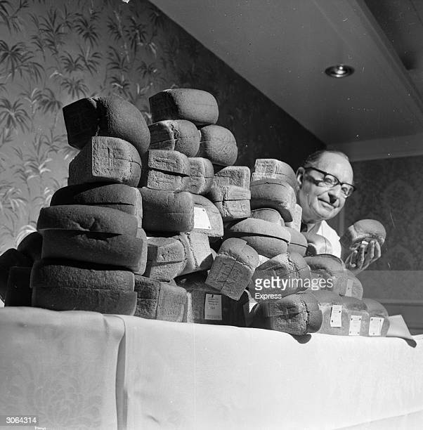 Ted Page judging a bread baking competition