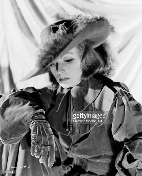 Swedish born actress Greta Garbo in the lead role for the film 'Queen Christina' directed by Rouben Mamoulian