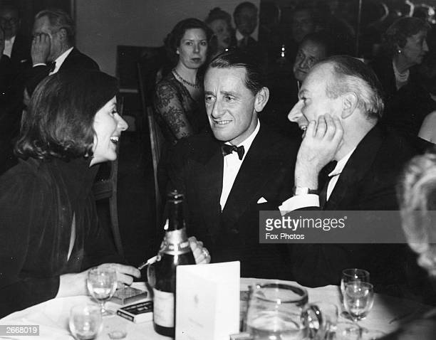 SwedishAmerican film actress Greta Garbo with British politician Anthony Head at an Election Night Reception given by newspaper proprietor Lord...
