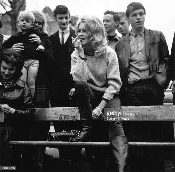 French actress Brigitte Bardot in Hampstead north London for the filming of 'The Adorable Beast'