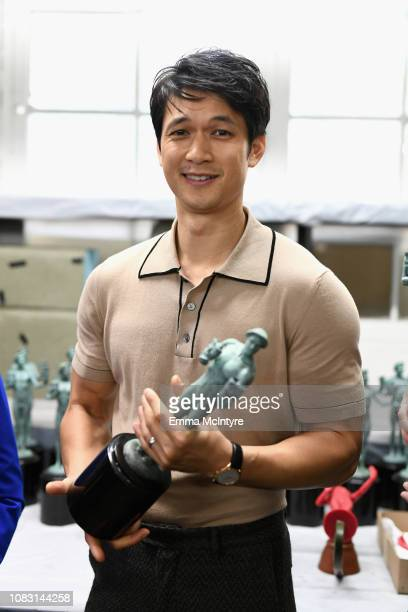 25th SAG Awards Ambassador SAG Awards Nominee Harry Shum Jr at the pouring of the actor statuette for the 25th Annual Screen Actors Guild Awards at...