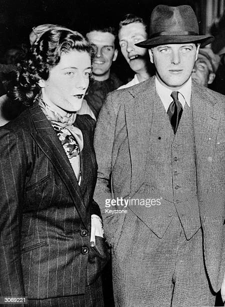 Sarah Churchill and her brother Randolph aboard the SS Queen Mary in New York