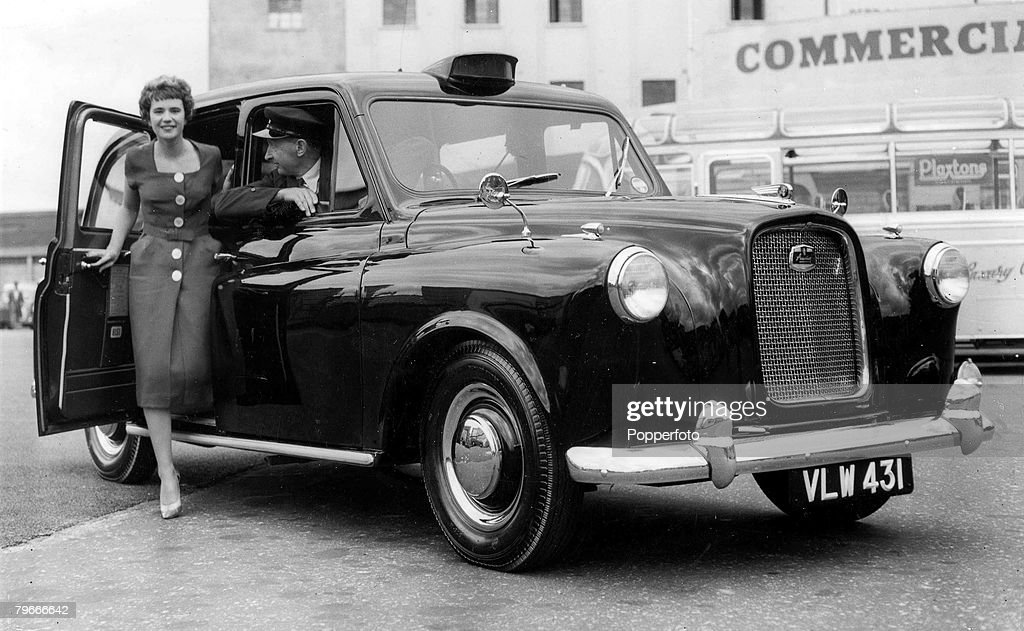 Uber was stripped of it's London license affecting 40,000 drivers and millions of disgruntled Londoners. But good news for the city's traditional cabbies. Seen here a classic new London taxi showcasing in 1958.