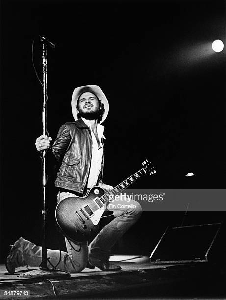 Billy Gibbons from ZZ Top performs live onstage with Gibson guitar in Waterbury Connecticut on the Texas World Tour on 25th September 1975