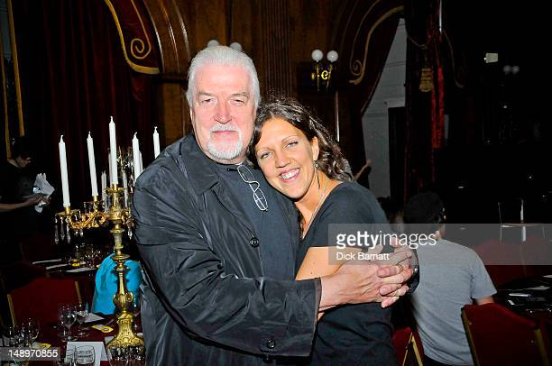 English keyboard player Jon Lord ex Deep Purple poses with his daughter Amy at the Sunflower Jam in Porchester Hall London on 25th September 2008