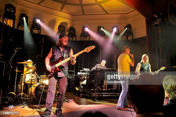 English rock group Deep Purple perform live on stage at the Sunflower Jam in Porchester Hall London on 25th September 2008 Left to right Ian Paice...