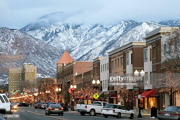 25th street, ogden, utah - utah stock pictures, royalty-free photos & images