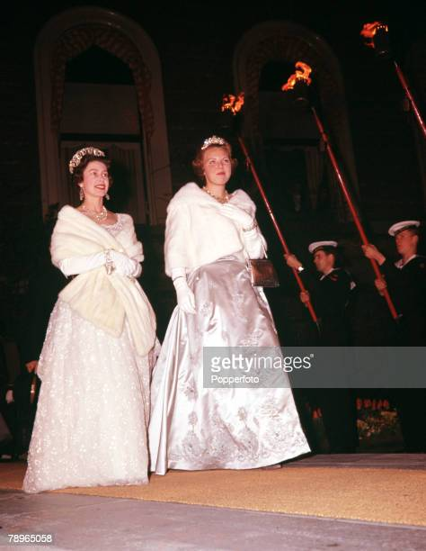 1962 25th Wedding Anniversary of Queen Juliana and Prince Bernhard of Holland Queen Elizabeth II of Great Britain and Dutch Princess Beatrix come on...