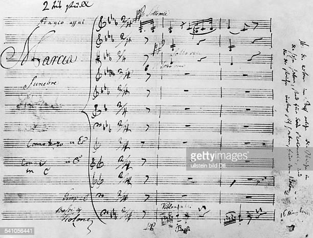 16121770 26031827deutscher KomponistHandschrift aus der EROICA 1803