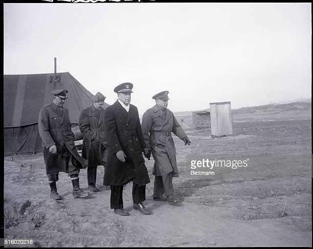2/6/1952Panmunjom Korea Admiral Joy leaving with Lieutenant General William K Harrison