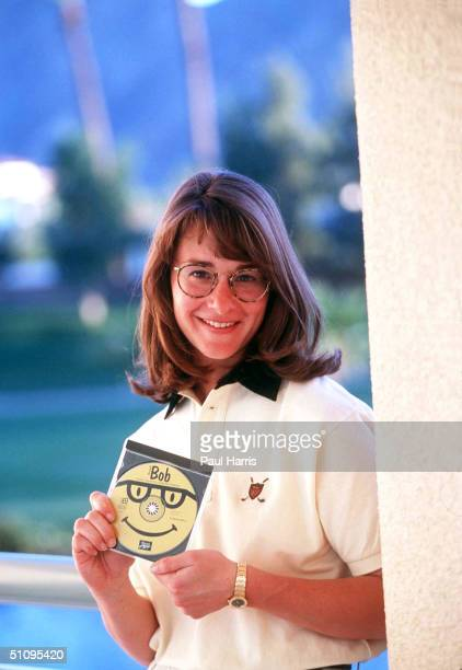 Indian Wells California Melinda French An Executive With Microsoft And Wife Of Bill Gates Shows A Copy Of Bob At A Trade Show Demo 95Bob Will Replace...