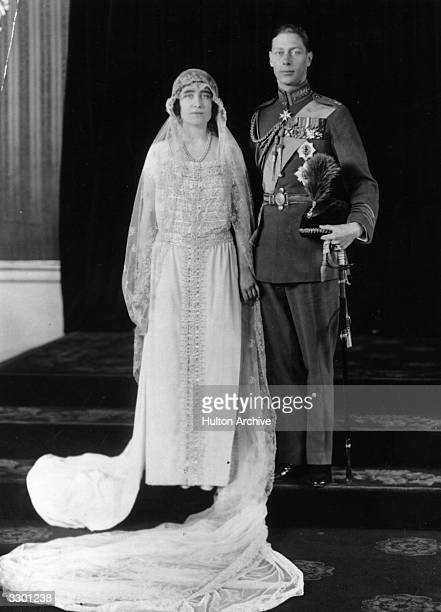The wedding of the Duke of York later George VI and Lady Elizabeth Bowes Lyon