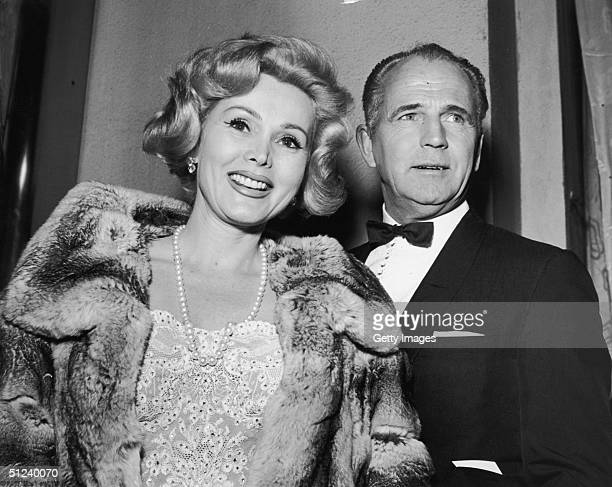 26th April 1959 Hungarianborn actor Zsa Zsa Gabor and construction industry millionaire Hal Hayes attend a Hollywood premiere California