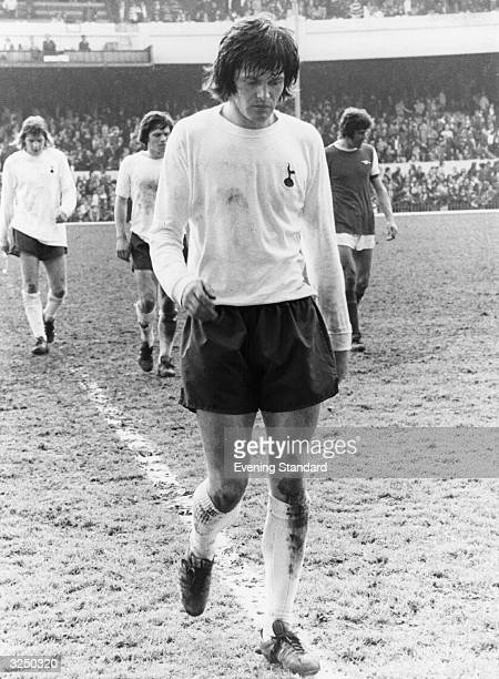 Spurs player John Duncan leaving the pitch at Highbury after a London derby match against arch rivals Arsenal It was the final game of the season and...