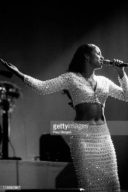 English singer Sade performs live on stage at Ahoy in Rotterdam Netherlands on 26th April 1993