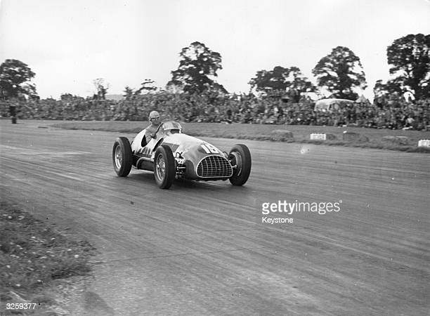Alberto Ascari driving a Ferrari Thin Wall Special during the International Trophy Race at Silverstone