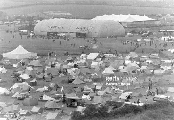 Tents at the Isle of Wight Pop Concert