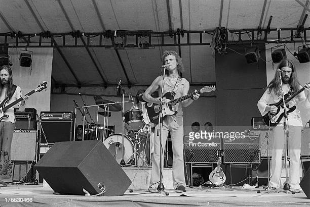 British group Jack The Lad perform live on stage at Reading Festival on 26th August 1973 Left to right Rod Clements Ray Laidlaw Billy Mitchell and...