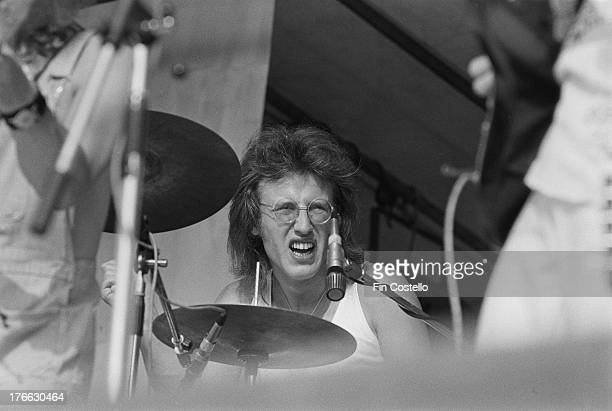 Ray Laidlaw performs live on stage with Jack The Lad at Reading Festival on 26th August 1973