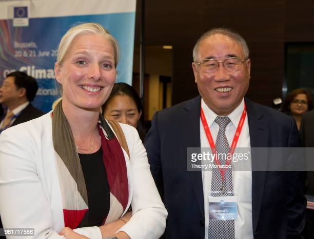 26th Canadian Minister of the Environment and Climate Change Catherine McKenna is talking with the Chinese top economic development body the National...