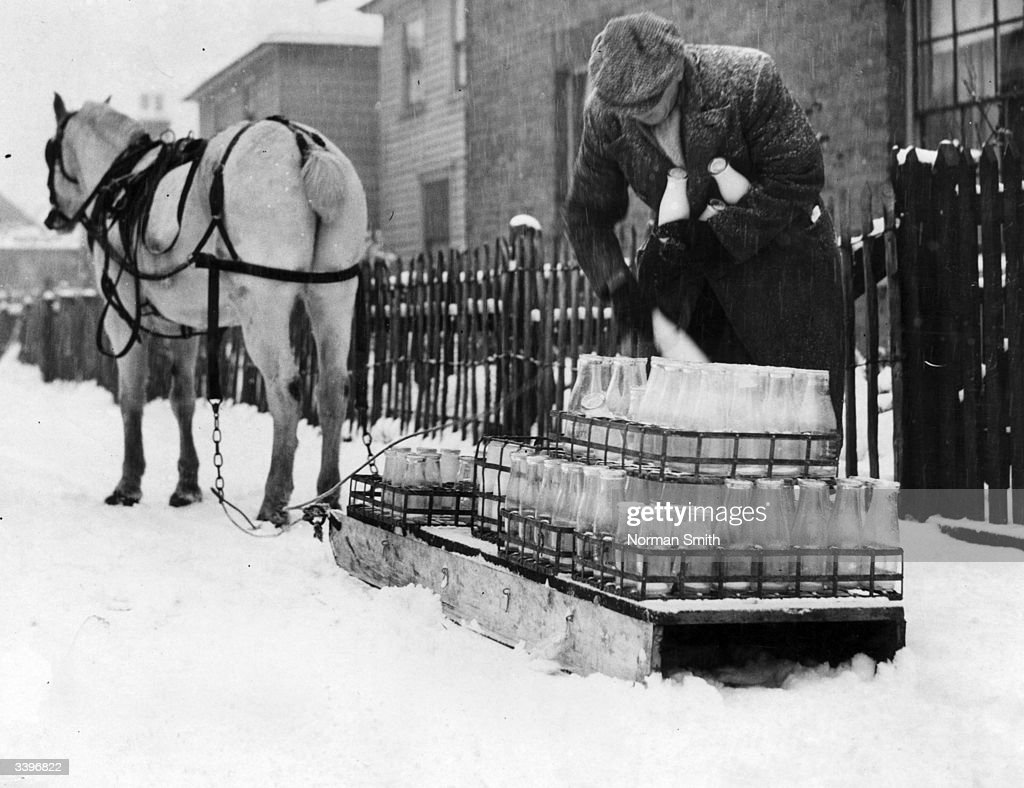 Ice Cold Milk : News Photo