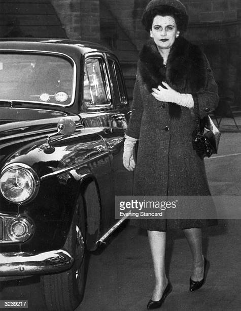 Margaret Sweeny the Duchess of Argyll arriving at court during her divorce hearing