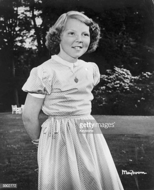 Princess Beatrix, daughter of Queen Juliana of the Netherlands, just before her 12th birthday.