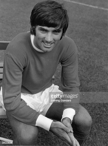 Footballer George Best of Manchester United Football Club