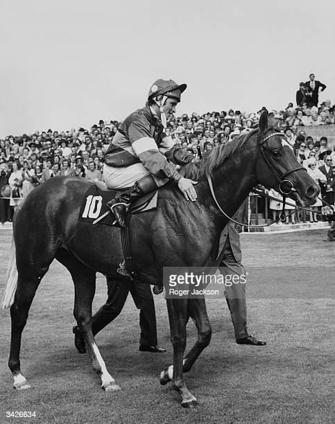 Jockey Pat Eddery gives his mount 'Grundy' a pat as he is led in after winning the King George VI and Queen Elizabeth Diamond Stakes at Ascot