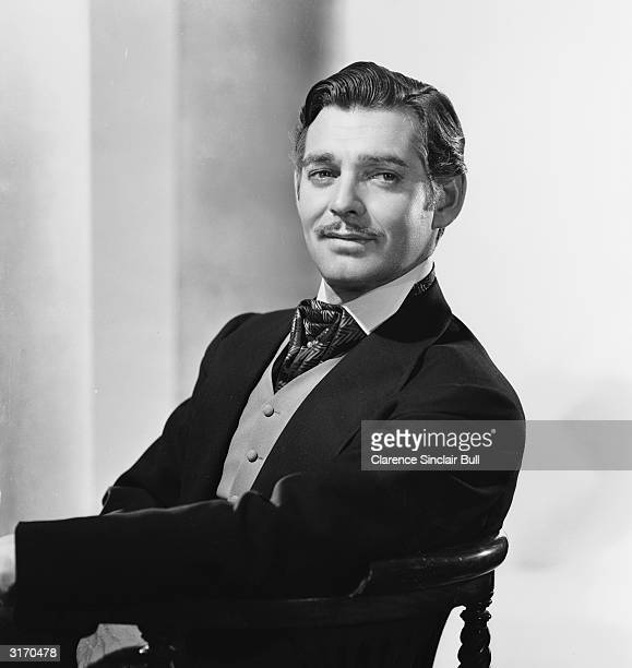 American actor Clark Gable in costume for his role as Rhett Butler in 'Gone With the Wind'