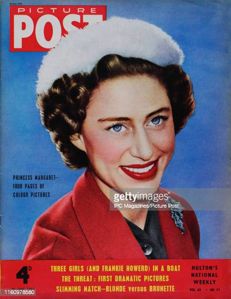 Princess Margaret Countess of Snowdon is featured for the cover of Picture Post magazine Original Publication Picture Post Cover Vol 63 No 13 pub 1954