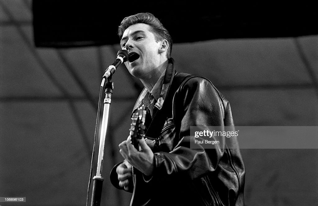 Roddy Frame, lead singer with Scottish group Aztec Camera performs ...