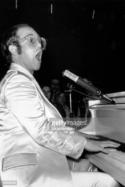 27 year old Elton John born Reginald Dwight performing at the Room At The Top Ilford London