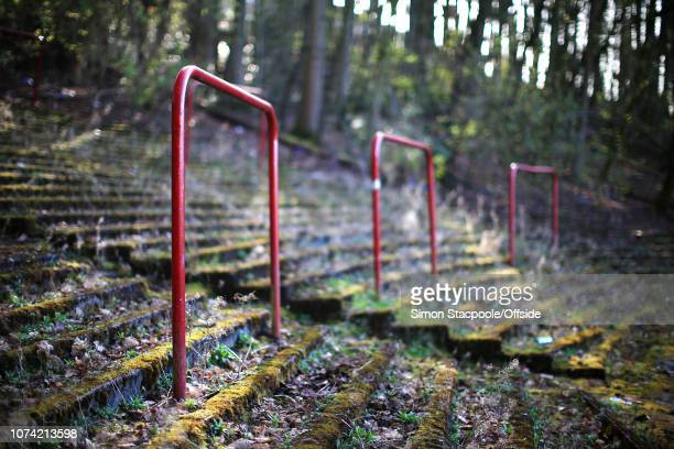 26th March 2017 2018 FIFA World Cup Qualifying Scotland v Slovenia The old terracing railings can be seen amongst the overgrown foliage in Cathkin...
