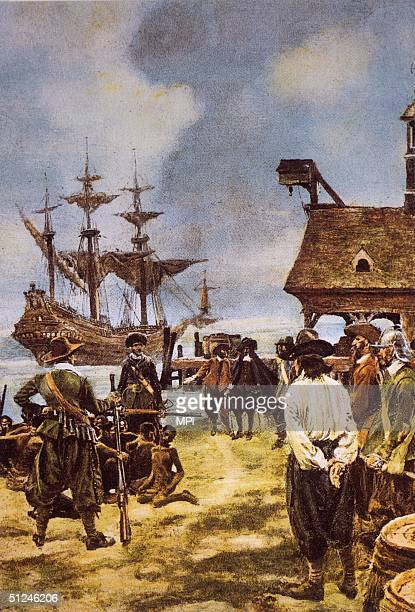 26th May 1585 English explorer Ralph Lane and his men take in salt at St John's Island in the Caribbean having been dispatched by Sir Walter Raleigh...