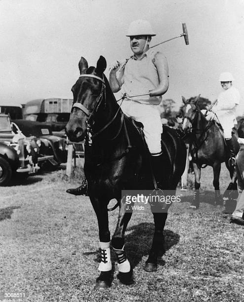 Lord Cowdray ready to play in the semi-final of the Cicero Cup at Cowdray Park in spite of his artificial arm.