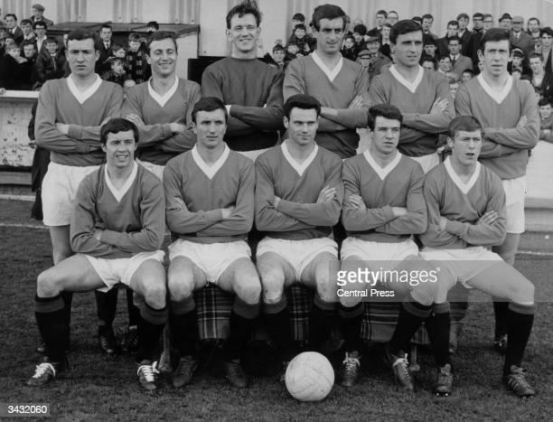 The Glasgow Rangers team back row Martin Johansen David Provan Sandy Jardine McKinnon and John Greig Front row Willie Henderson A Smith Hynd D Smith...