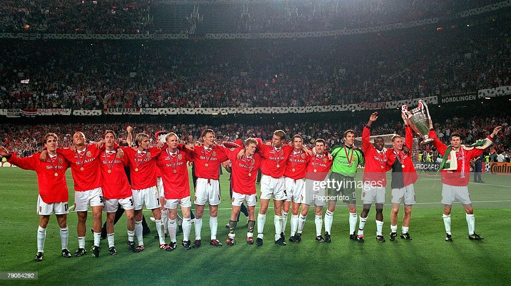 26th MAY 1999 UEFA Champions League Final Barcelona Spain Manchester United 2
