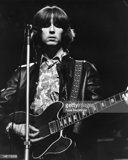 Eric Clapton performs live on stage with Cream during their farewell performance at the Royal Albert Hall in London on 26th November 1968