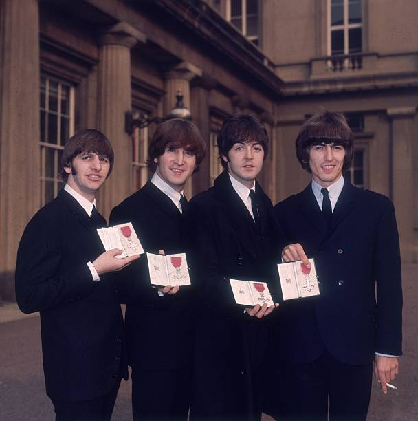 GBR: 26th October 1965 - The Beatles Receive MBEs At Buckingham Palace