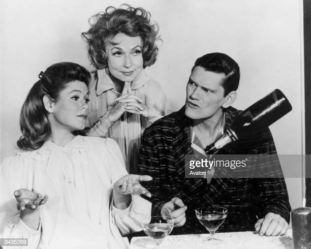 Some of the cast of the hit TV show 'Bewitched' Elizabeth Montgomery Agnes Moorhead and Dick York