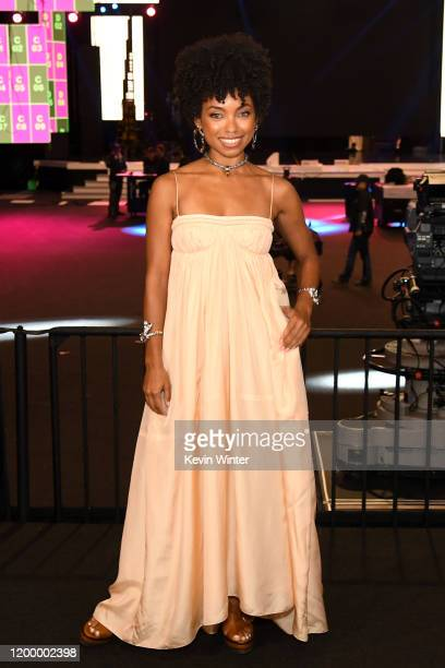 26th SAG Awards Ambassador Logan Browning attends Cocktails with the SAG Awards at The Shrine Auditorium on January 16 2020 in Los Angeles California...