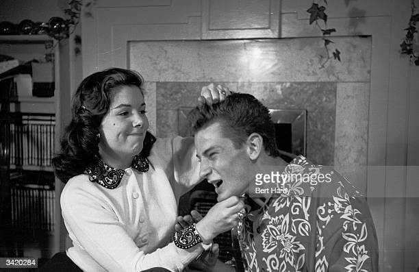 Barbara and Richard Lyon continue their brother and sister feud in the popular radio sit-com 'Life With The Lyons', which is being made into a film....