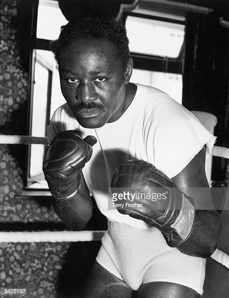 Ezzard Charles, the former world heavyweight champion, in sparring pose.