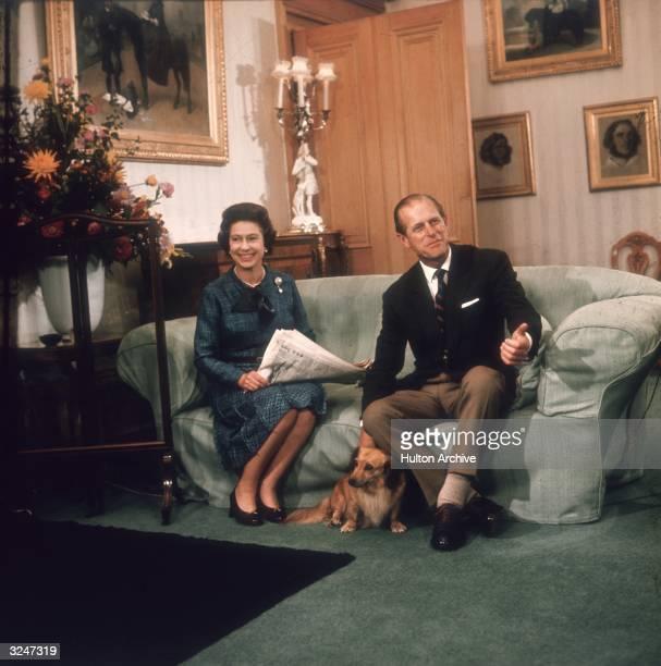 Queen Elizabeth II with her husband the Duke of Edinburgh at Balmoral