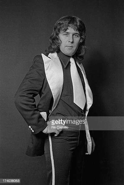 Bass guitarist Ray Stiles from glamrock group Mud posed in London on 26th September 1973