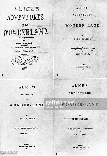 *2701183214011898Schriftsteller Mathematiker GB Probeentwürfe zum Titelblatt derErstausgabe von Alice's Adventures inWonderland mitIllustrationen von...